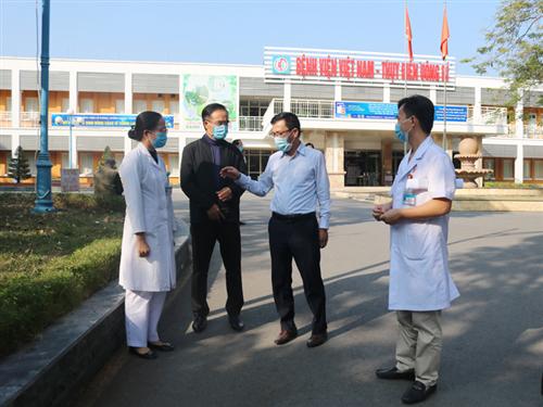Đoàn công tác Sở Y tế kiểm tra công tác phòng, chống dịch bệnh COVID-19