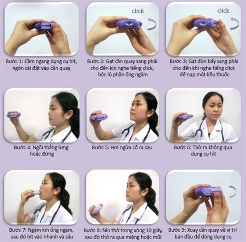 Cách sử dụng bình hít bột khô