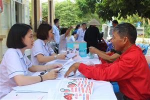 130 người dân phường Nam Khê được khám sức khỏe miễn phí