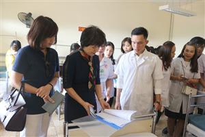 Đón tiếp đoàn công tác Bệnh viện Tai Mũi Họng TW tham quan tại Bệnh viện