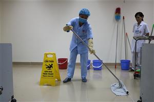 Tập huấn đào tạo vệ sinh bề mặt Bệnh viện năm 2018