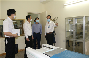 Đón và làm việc với đoàn khảo sát và kiểm tra hiện trạng Bệnh viện