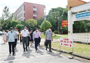 Đoàn giám sát HĐND tỉnh khảo sát nắm bắt phương án  phòng chống dịch Covid-19 tại Bệnh viện