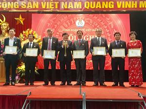 Vinh dự nhận bằng khen lao động sáng tạo của Tổng Liên đoàn Lao động Việt Nam