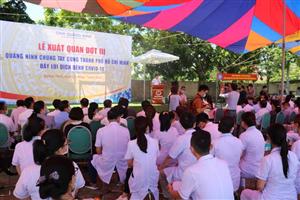 23 nhân viên y tế bệnh viện  lên đường hỗ trợ công tác chống dịch tại TP Hồ Chí Minh