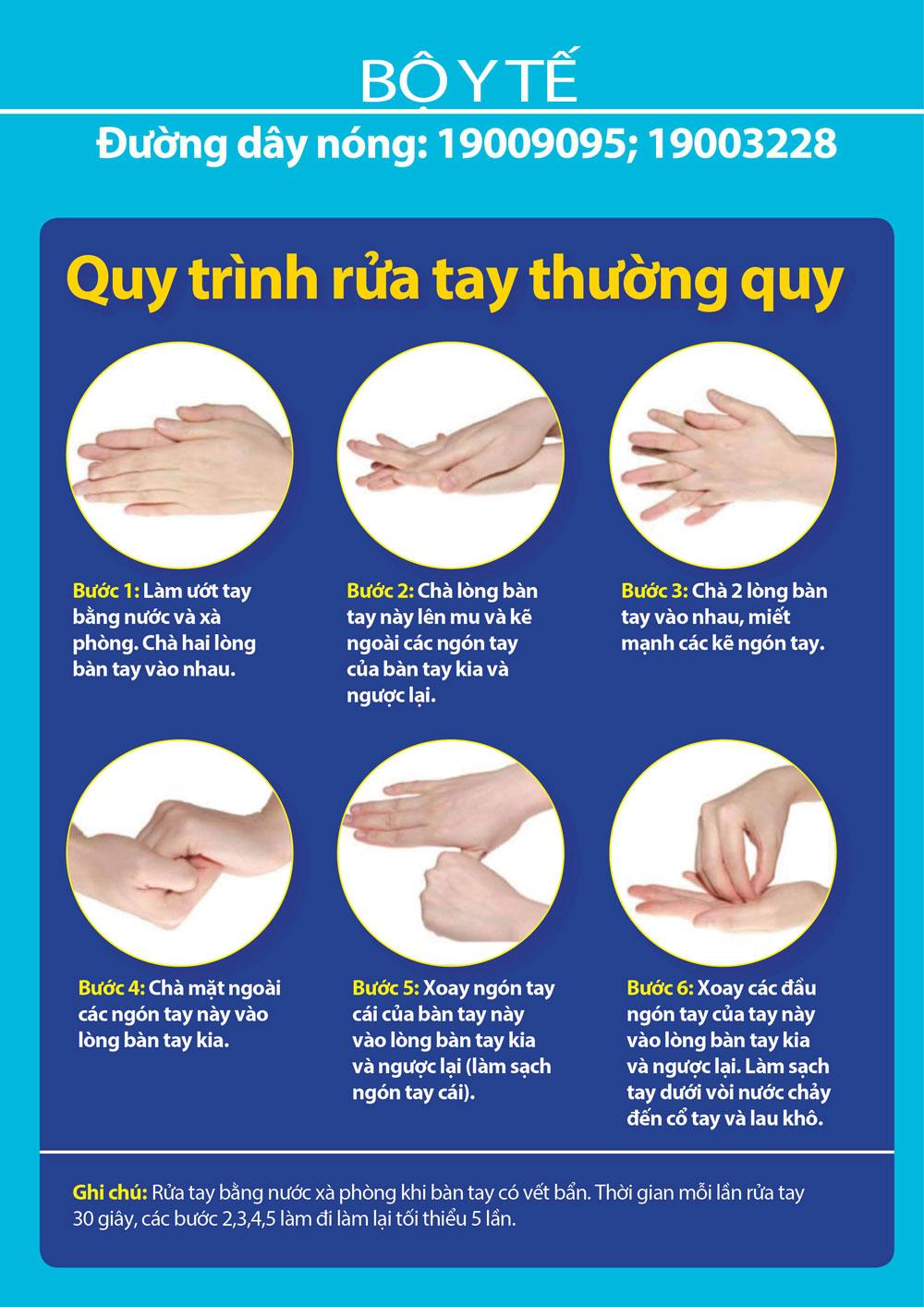 Bộ Y tế khuyến cáo rửa tay đúng cách để phòng bệnh COVID-19